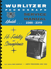 MANUALE COMPLETO (manual) JUKEBOX WURLITZER 2300-2300s-2310-2310s (juke box)