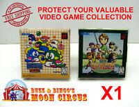1X NEO GEO POCKET / COLOR CIB GAME - CLEAR PLASTIC PROTECTIVE BOX PROTECTORS