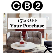 New listing Cb2 - 15% Off Your Purchase * In Store or Online* Exp 03/31/19