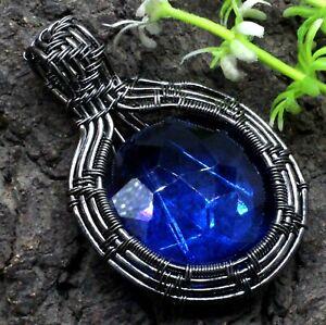 "Tanzanite Gemstone Jewelry Wire Wrapped Handmade Pendant Size-1.50"""