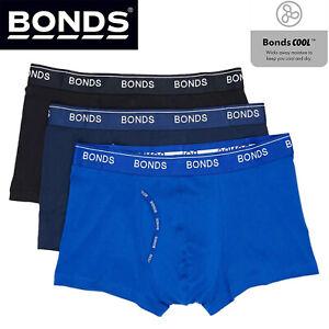 Bonds 3 Pack Mens Guyfront Trunks Briefs Boxer Short Comfy Blue Undies Underwear