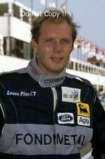 Eric van de Poele Fondmetal fotografía de retrato F1 1992