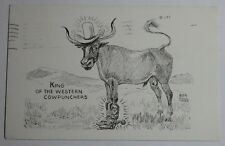 1951-55 Postcard King Of The Western Cowpunchers Bob Hall Glacier Stationary
