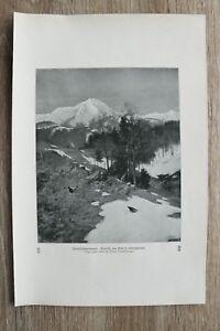 Kunstdruck 1 Blatt 1905/06 Vorfrühlingsmorgen nach Schmitzberger F Hanfstengl Mü