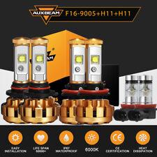 AUXBEAM 9005+H11+H11 LED Headlights Conversion kit High Low Beam+Fog Light Bulbs