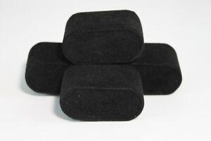 Set of 4 Black Velvet Watch Pillows for Case Box  Display US Seller