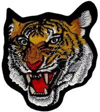 be64 Tiger Kopf Raubtier Aufnäher Applikation Bügelbild Katze 8,5 x 9,7 cm