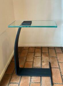 Modernist Steel Glass Side End Table DIA Design Institute of America Plateau 431