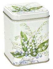 Dose Maiglöckchen 100 g 7,1 x 7,1 x 9,3 cm Teebüchse Vorratsdose  Blumen