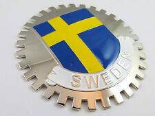 Grille Badge Sweden for car truck grill mount Swedish flag emblem chrome