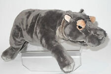Uni-Toys Neuware liegendes Nilpferd  Flußpferd 45cm lang