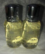 Two (2) Molton Brown Orange & Bergamot Bath & Shower Gel. 1 Fl Oz Each