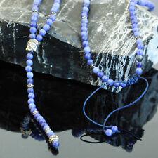 JJJ LA Triangle Halskette Achat Gebetskette Rosenkranz Buddha 925er Silber