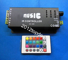 24KEY Music IR Remote Controller Sound Sensitive for RGB LED Strip Light 12V