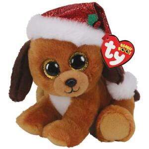 Ty Beanie Boos Dog -howlidays- 5 7/8in + Gift Bag