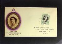 St. Vincent - 1953 Queen Elizabeth II Coronation FDC / Minkus Cache - Z2350