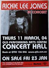RICKIE LEE JONES 2004 POSTER AUSTRALIAN TOUR Brisbane Concert 59x42cm A2 Music