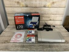 Canon i70 Bubble Jet Printer Used Boxed Software Manual Cables New & Sealed Ink