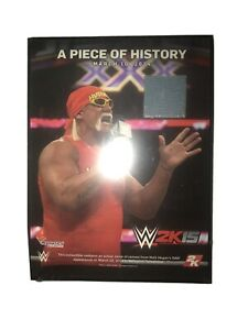 Hulk Hogan WWE 2K15 PIECE OF HISTORY PLAQUE Ring Used Mat Piece LIMITED EDITION