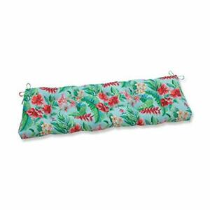 Pillow Perfect Outdoor/Indoor Tropical Paradise Tufted Bench/Swing Cushion 60...