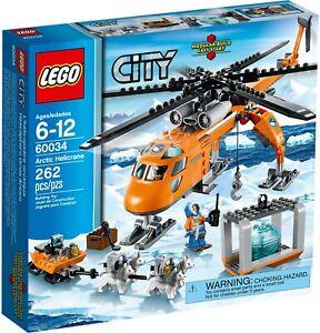 Lego City Arctic Helicrane 60034 (2014) Pre-Owned