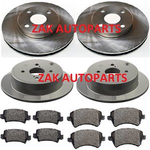 FOR TOYOTA COROLLA 1.4 1.6 VVTi 2002-2006 FRONT AND REAR BRAKE DISCS & PADS SET