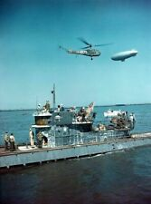 Surrender of German U-Boat U858. WW2 WWII Print