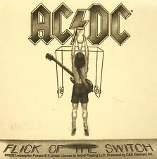 "AC/DC AUFKLEBER / STICKER # 20 ""FLICK OF THE SWITCH"" - PVC"