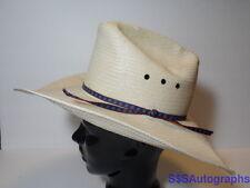 Vintage RESISTOL SHEPLERS WESTERN 6 7/8 STRAW Western Natural Tan 55 COWBOY HAT