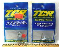 7pc TCR MK 1 &  JAM HO Slot LESS Car Tune Up Kit REAR WHEEL HUBS AXLES & GEAR