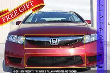 GTG 2009 - 2011 Honda Civic 4dr 3PC Gloss Black Overlay Combo Billet Grille Kit