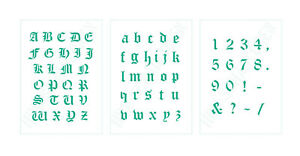 Scrapbooking alte Schrift ● Schablonen Buchstaben ABC groß, klein oder Zahlen