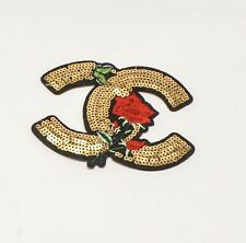 Gold Cc Embroidered Chanel Patch