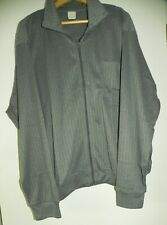 Haband Gray Textured Polyester Jacket Small