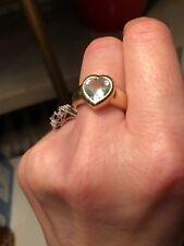 Herz Herzring Ring Blau-Topas Blautopas Herzschliff 585 Gold Juwelier Unikat