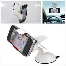 360° Rotable Sucker Holder Car Windshield Mount Holder For All Cell Phone White