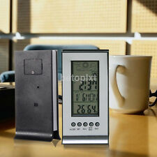 Clock + LCD Digital Day Hygrometer Humidity Thermometer Temperature Meter Indoor