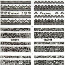 Decorazioni nero senza marca per unghie