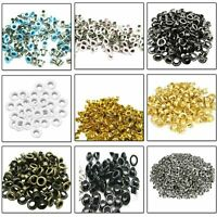 2mm - 12mm 100pcs Brass Eyelets Grommets for Leather Crafts Clothing Bags Repair