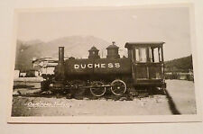Postcard REAL PHOTO Carcross YUKON Canada DUCHESS STEAM ENGINE 1950s