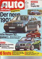 AUTO ZEITUNG 26/91 BMW 520i touring/Escort RS 2000/Mazda MX-3/Porsche/6.12.1991