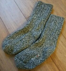 Wigwam Men's L Heavy Wool Knit Gray Black Speck Boot Outdoor Hiking Sock
