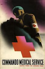 WW2 ROYAL MARINE COMMANDO MEDICAL SERVICE POSTER NEW A4 PRINT