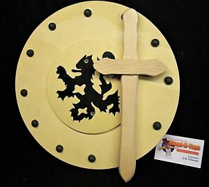 Gladiator sword and shield set - wooden toy/ LARP/ Theatre etc