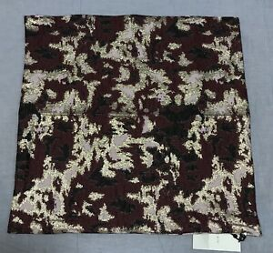"""West Elm Burgundy Brocade Abstract Pillow Cover 20"""""""