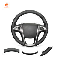Black Real Leather Steering Wheel Cover for Buick Lacrosse Chevrolet Equinox