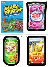 WACKY PACKAGES ALL-NEW SERIES/ANS 8 (2011)--Complete 55-Sticker Set + Wrapper^^