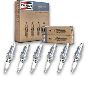 6 pc Champion Copper Plus Spark Plugs for 1999-2004 Jeep Grand Cherokee 4.0L wq