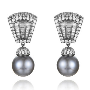 New Unique Design Luxury Pearl Pendant Earrings for Women Wedding Jewelry G689E