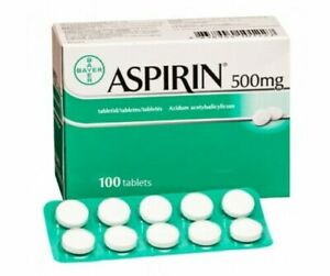 ASPIRIN 500 MG, to soothe symptomatic pain 100 TABLETS
